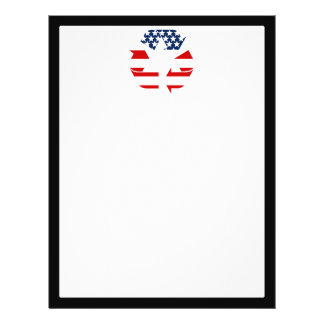 USA Flag - Red White & Blue Recycle Symbol 21.5 Cm X 28 Cm Flyer