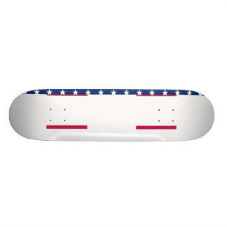 USA Flag Red White Blue Stars Stripes Skateboard