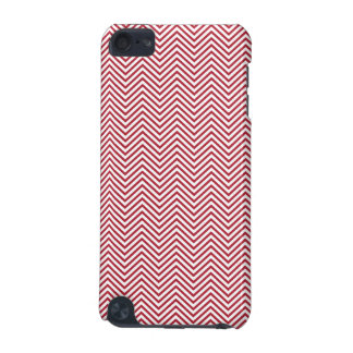 USA Flag Red & White Wavy ZigZag Chevron Stripes iPod Touch (5th Generation) Cases