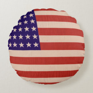 USA flag Round Cushion