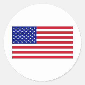 USA Flag Round Sticker
