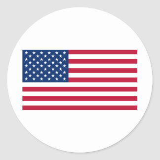 USA Flag Round Sticker
