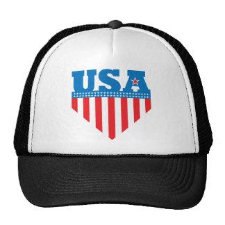 USA Flag Shield Hat