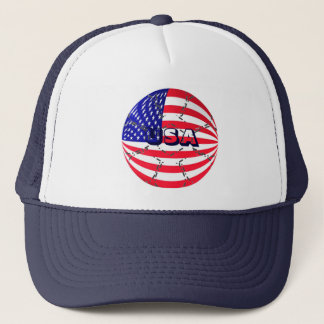 USA flag soccer football hat