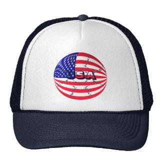 USA flag soccer football hat