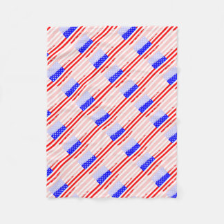 USA Flag Splash Fleece Blanket