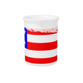 USA Flag Splash Pitcher