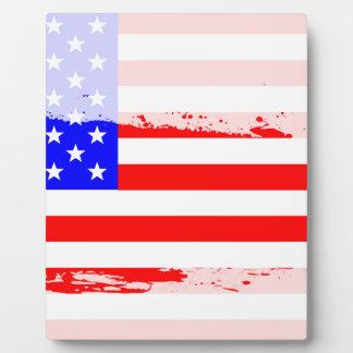 USA Flag Splash Plaques