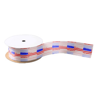 USA Flag Splash Satin Ribbon