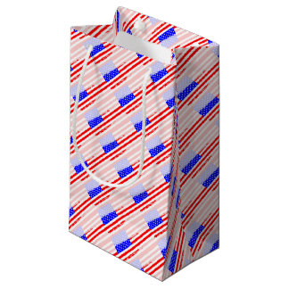 USA Flag Splash Small Gift Bag