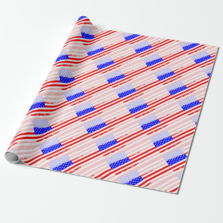 USA Flag Splash Wrapping Paper