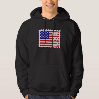 USA Flag Stamp Hoodie