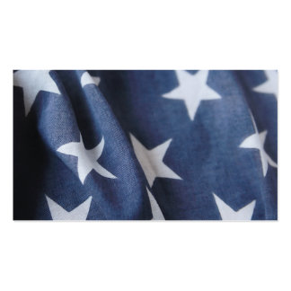USA flag star field close up Business Card