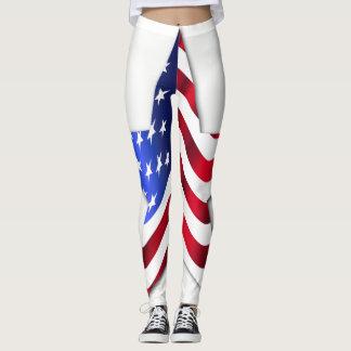Usa Flag Star Leggings