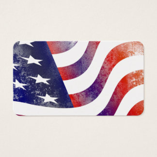 USA Flag Stars Stripes Patriotic Personalize Business Card