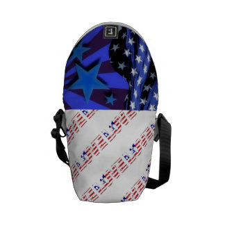 USA Flag Stars Stripes Patriotic Personalize Commuter Bags