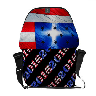 USA Flag Stars Stripes Patriotic Personalize Courier Bags