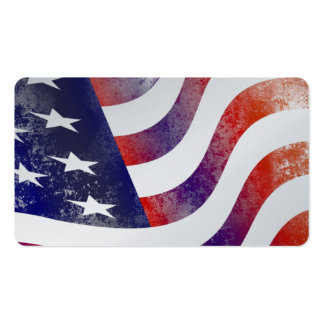 USA Flag Stars Stripes Patriotic Personalize Pack Of Standard Business Cards