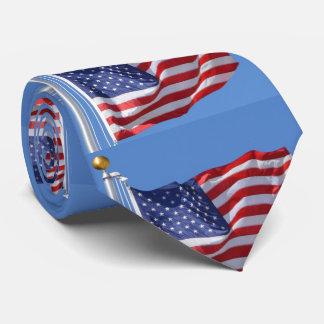USA Flag Stars Stripes Patriotic Personalize Tie