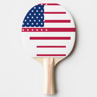 USA Flag Stars Stripes Red Table Tennis Ping Pong Ping-Pong Paddle