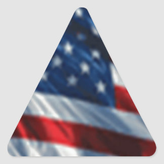 USA Flag Triangle Stickers