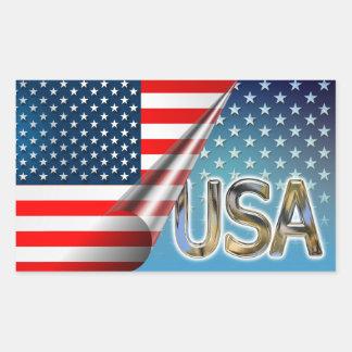USA Flag Rectangular Sticker