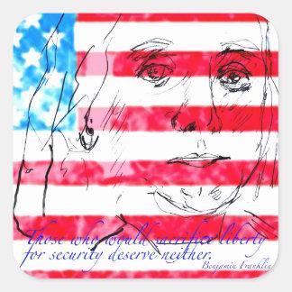 USA Flag Square Sticker