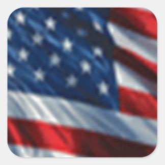 USA Flag Square Stickers