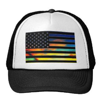 USA Flag Sunset Hat