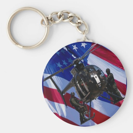 USA FLAG SWAT HELICOPTER KEY CHAIN