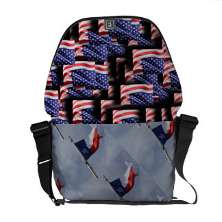 USA Flag Texas Stripes Patriotic Personalize Commuter Bags