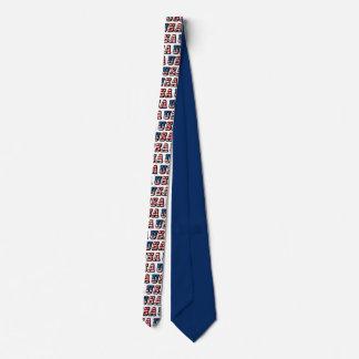 USA Flag Text Necktie