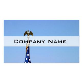 USA Flag Top Business Card