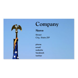 USA Flag Top Pack Of Standard Business Cards