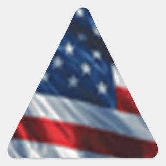 USA Flag Triangle Sticker