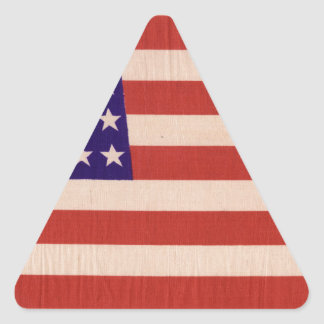 USA Flag Triangle Sticker