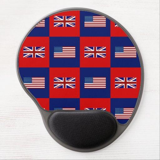 USA Flag & UK Flag Pattern Gel Mouse Pad