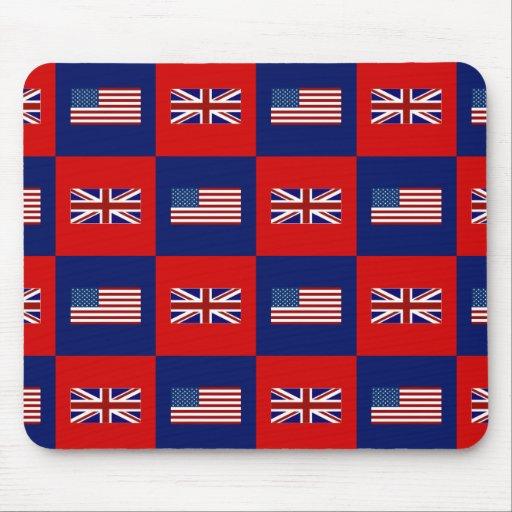 USA Flag & UK Flag Pattern Mousepads