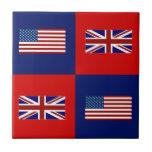 USA Flag & UK Flag Pattern Tile