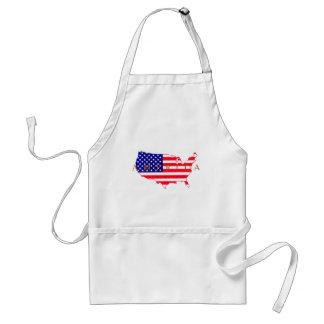 USA Flag - USA Map - America Standard Apron