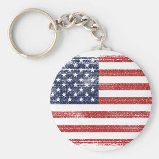 USA flag vintage Keychain