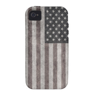 USA Flag, Vintage Retro American Flag On Canvas iPhone 4/4S Covers