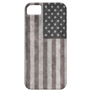 USA Flag, Vintage Retro American Flag On Canvas iPhone 5 Covers