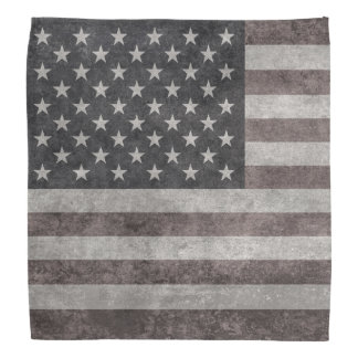USA flag, vintage retro style with canvas textue Bandana