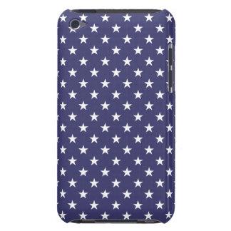 USA Flag White Stars on Flag Blue iPod Case-Mate Cases