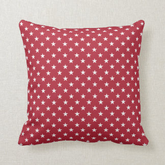 USA Flag White Stars on Flag Red Cushion