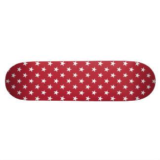 USA Flag White Stars on Flag Red Skateboard Deck