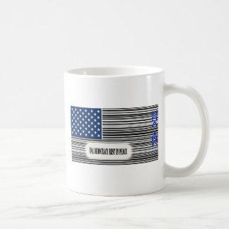 USA Flag with Barcode UPC - Democracy R.I.P. Mugs