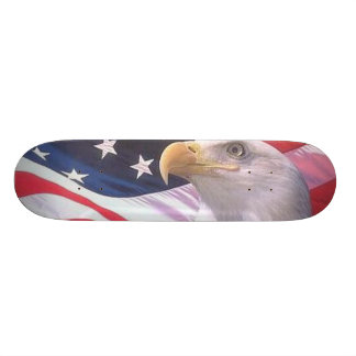 USA FLAG with EAGLE Skate Deck