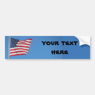 USA Flag with your text Bumper Sticker